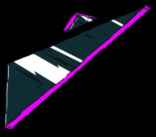 floating dark triangle